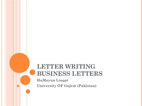 Business Letter Sle Pakistan Letter Writing Communication Skills