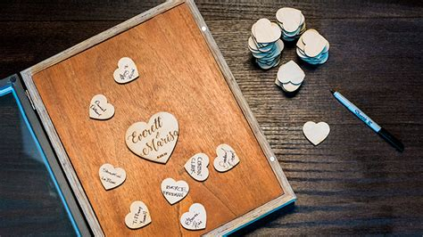 wedding shadow box uk create a wedding guestbook shadow box with your laser