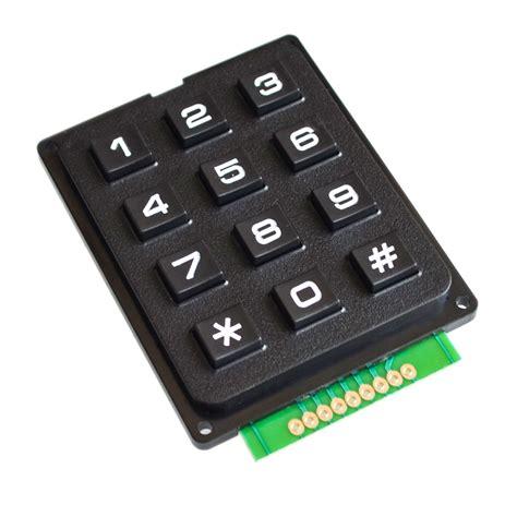 Keypad Membrane Matrix 12 12 key membrane switch keypad 4 x 3 matrix array matrix