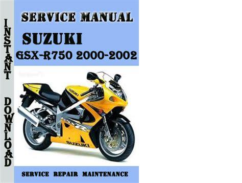 Suzuki Gsx R750 2000 2002 Service Repair Manual Pdf