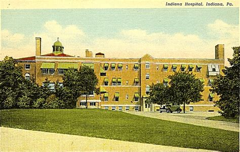 Iup Post Office by Indiana Hospital 1940