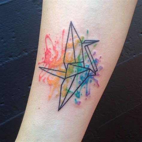 watercolor tattoo origami watercolors origami cranes and origami on