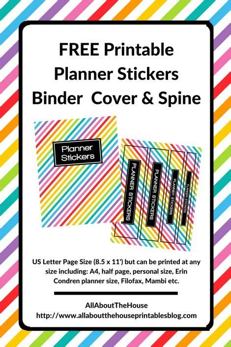printable notebook stickers 17 best images about planner calendar stickers on