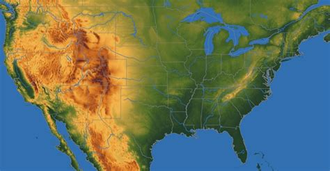 map usa relief relief map of usa