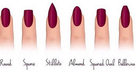8 Nail Shapes And How To Choose The One For You by 12 Different Nail Shapes Every Should