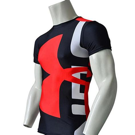 Tshirt Kaos Armour 1b high quality s marvel armour t shirt compression t shirt fitness tights