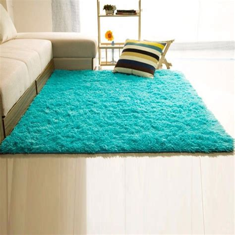 soft fluffy rugs rectangle soft fluffy rug anti skid shaggy study room bedroom carpet floor mat ebay