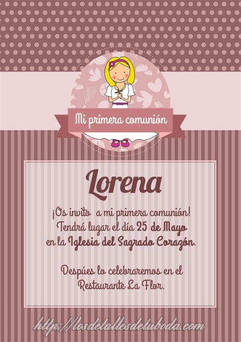 tarjetas de comunion personalizadas para imprimir gratis comuniones archives blog de los detalles de tu boda