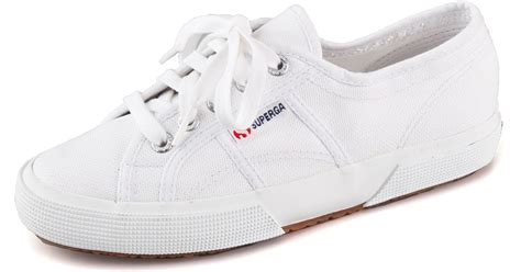 superga white sneakers superga cotu classic lace up sneakers in white lyst