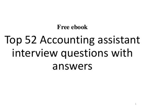 accounting assistant questions