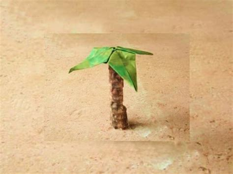 Palm Tree Origami - origami palm tree