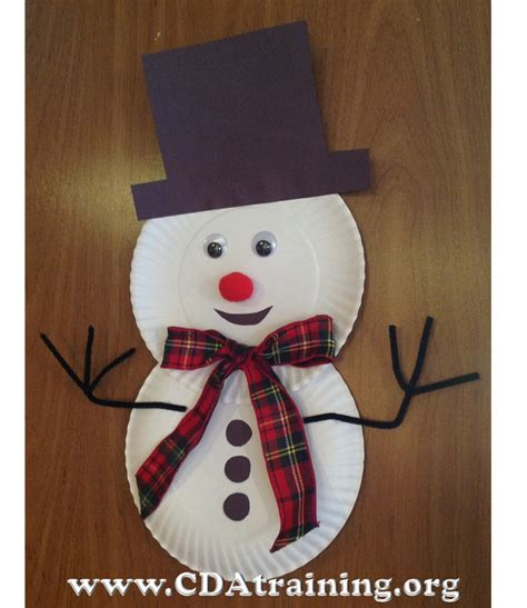 How To Make Snowman With Paper - theme 123 play and learn child care basics