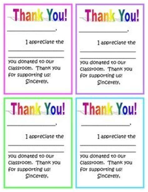 Thank You Letter For Classroom Donation 36 Best Images About Thank You Notes On Winter Breaks Homework Pass And Thank You Cards