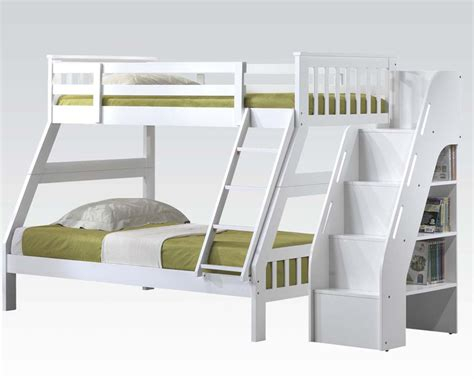 acme bunk beds acme white twin full bunk bed ac37155
