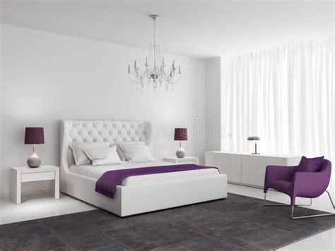 fauteuil chambre a coucher chambre 224 coucher de luxe blanche avec le fauteuil pourpre