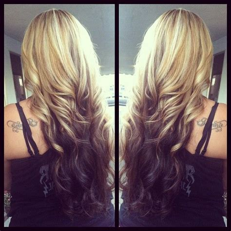 reverse ombre hair color for blonde hair 39 best reverse balayage darker on the ends images on