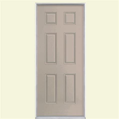 Prehung Fiberglass Exterior Doors Masonite 36 In X 80 In Avantguard Flagstaff Finished Smooth Fiberglass Prehung Front Door With