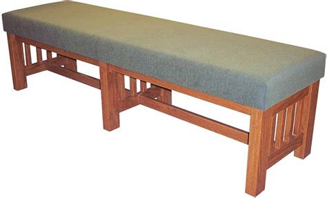 mission benches mission upholstered benches iowa prison industries