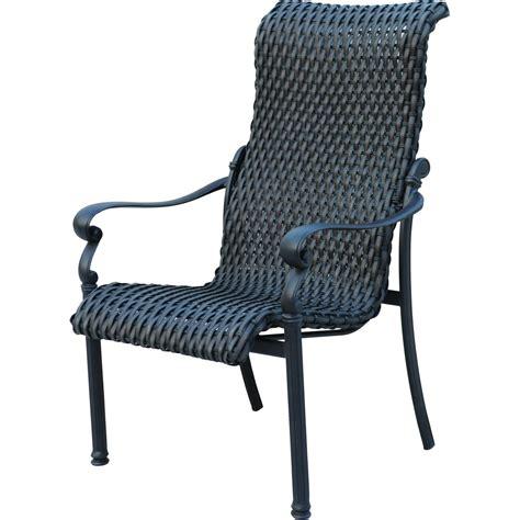 patio furniture wicker aluminum chair dining arm set 2