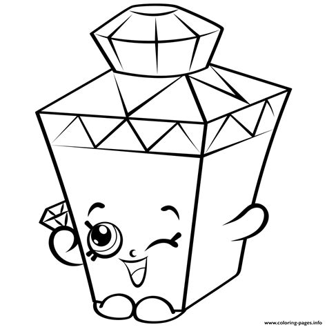 coloring pages of limited edition shopkins limited edition gemma gem to colour shopkins season 4