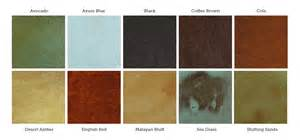 concrete stain color chart how to acid staining concrete floors directcolors