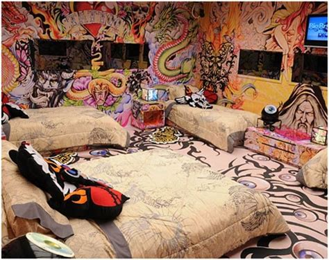 craziest bedrooms tattooed bedrooms for teenagers bedroom decorating ideas