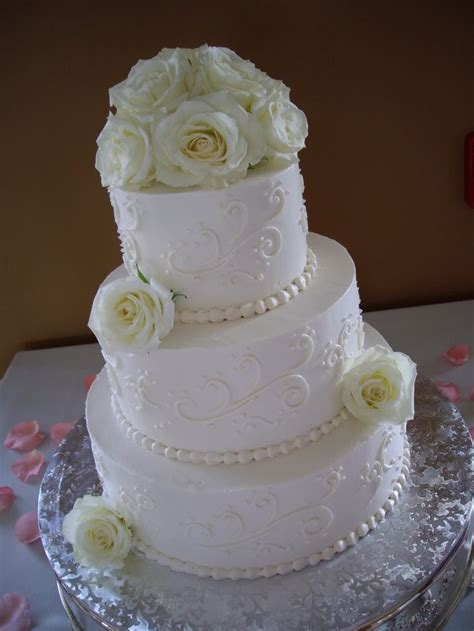 White On White Buttercream Scroll 17 Best Images About Buttercream Wedding Cakes On