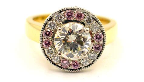 Handmade Diamonds - handmade pink white ring jewellery a genius