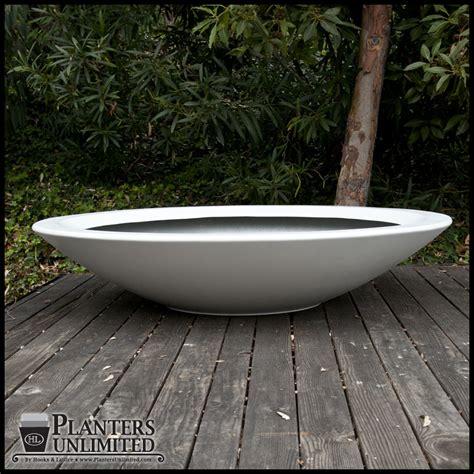 72 quot dia x 15 quot h modern low bowl planter