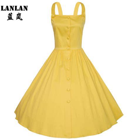 Cotton Dress Yellow Blue 30086 xs 4xl plus size summer dress 2016 new 100 cotton spaghetti yellow navy blue white