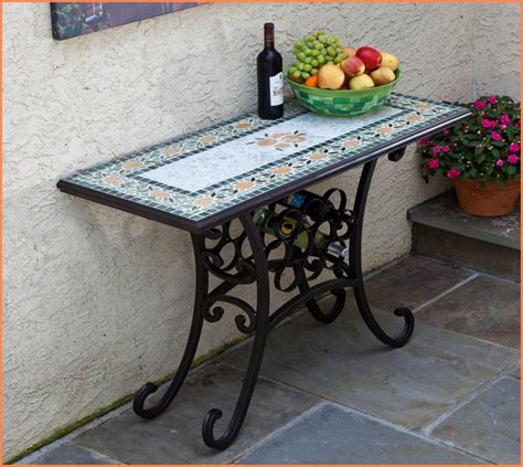 Outdoor Console Table Metal by Outdoor Console Table Aluminum Home Design Ideas
