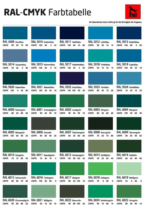 ral farben tabelle ral farben alle ideen 252 ber home design