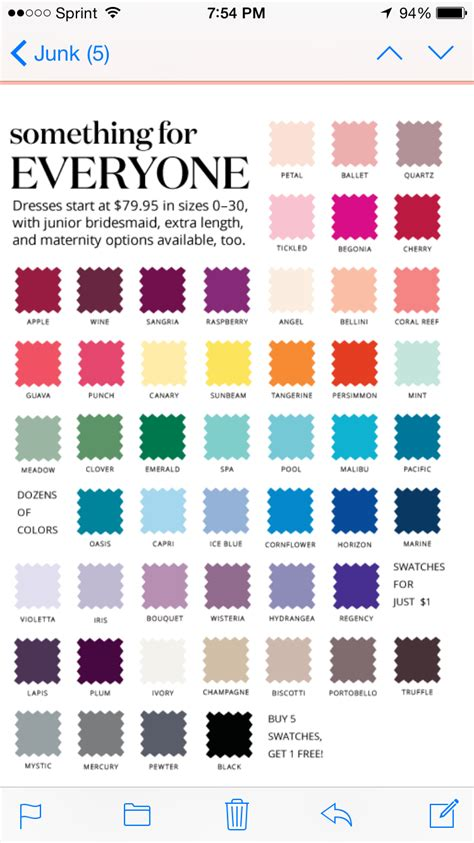 davids bridal colors look what i found david s bridal color swatches i m torn