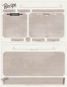 Free Recipe Card Templates by Free Printable Recipe Cards Arts Rec