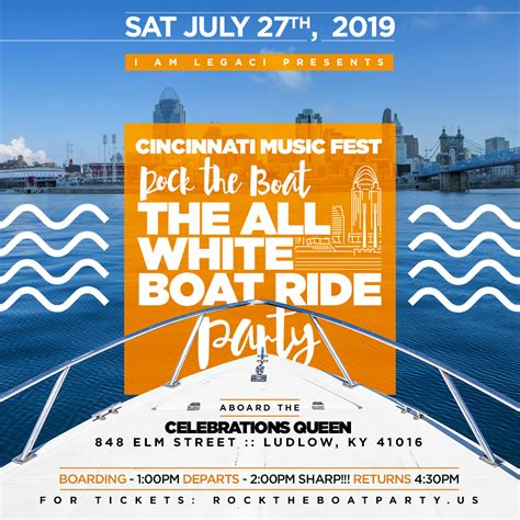 rock the boat white party rock the boat 2019 the 3rd annual all white boat ride day