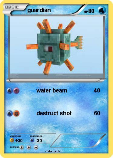 minecraft guardian coloring page pok 233 mon guardian 79 79 water beam my pokemon card