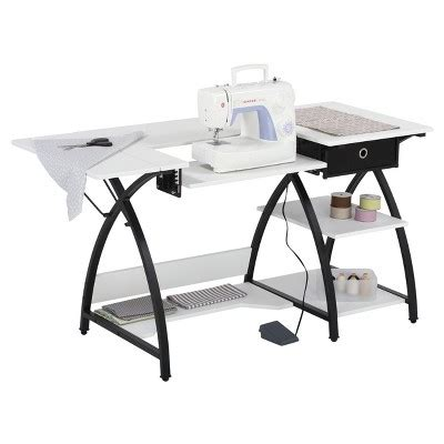 Comet Sewing Desk Black White Sew Ready Target White Sewing Desk