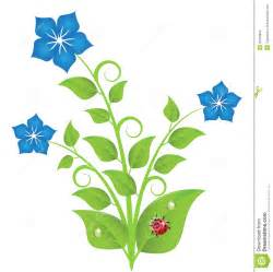 Decorated Mason Jars Blue Flowers With Leaves And Swirls Stock Images Image