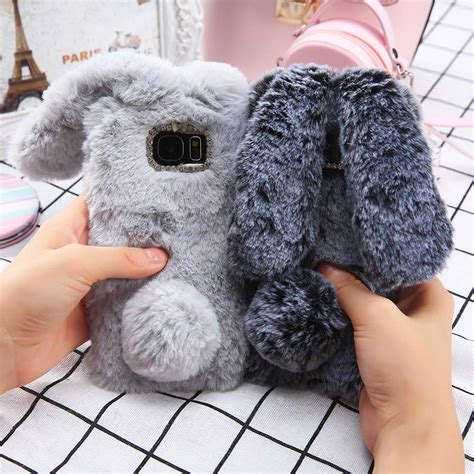 Sale Fluffy Bunny Rabbit Soft Casing Hp Iphone 7 7 Kelinci B 3d soft fluffy bunny phone for samsung galaxy s8 s7 edge ipartz
