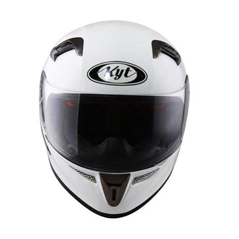 Kyt K2 Rider Black White jual kyt k2 rider helm solid white harga kualitas terjamin blibli