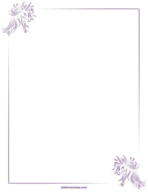 free printable unicorn stationery printable unicorn stationery and writing paper free pdf