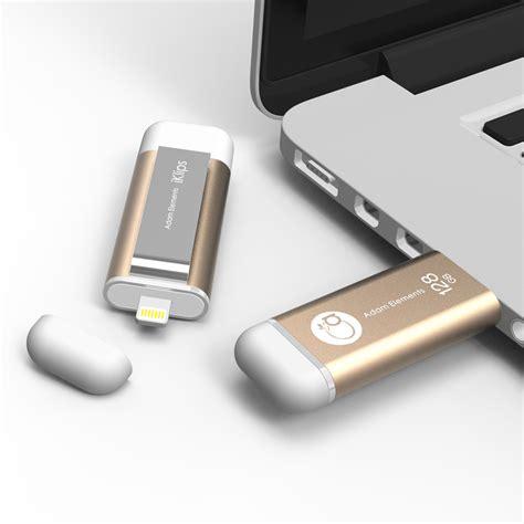 Adam Elements Iklips Flash Drive 128gb Gold adam elements 128gb iklips lightning usb 3 0 dual interface flash drive gold my digital