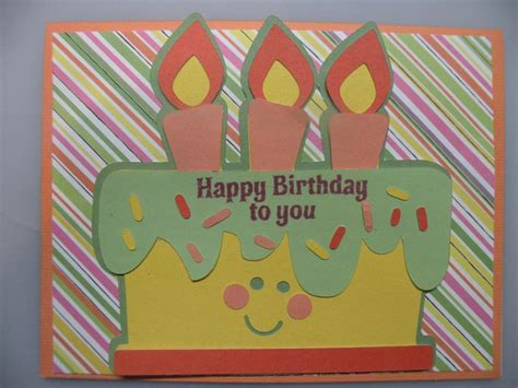 How To Make A Greeting Card With Paper - birthday card create easy how to make a birthday card