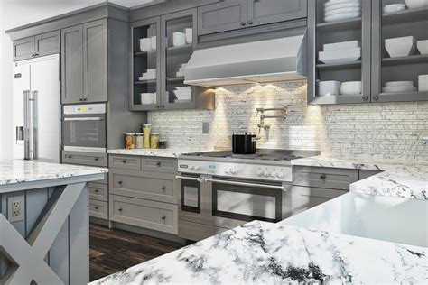 shaker grey kitchen cabinets