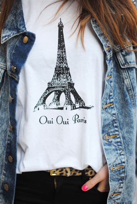 Eifel Tower White Blouse Bahan Katun t shirt white belt tiger printed t shirt eiffel tower eiffel towers black and