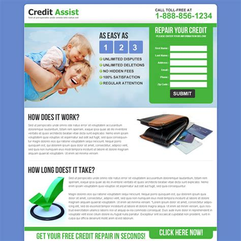 Credit Repair Landing Page Template Credit Repair Landing Page Design Template To Boost Your Credit Repair Business Page 2