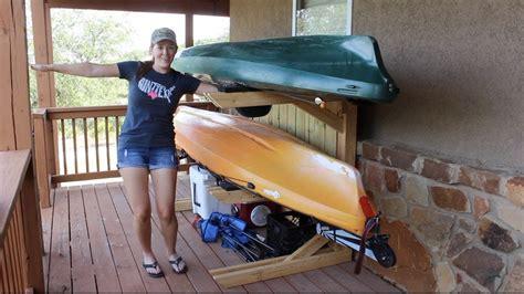 building  kayak rack yak rak youtube