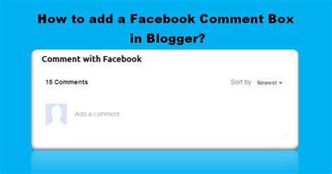 how to make a comment section in html how to add facebook comments box on your blogger blog site