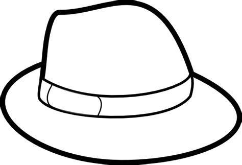 hat outline template hat outline clip at clker vector clip