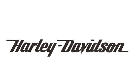 eps format fonts harley davidson text logo vector black white format cdr